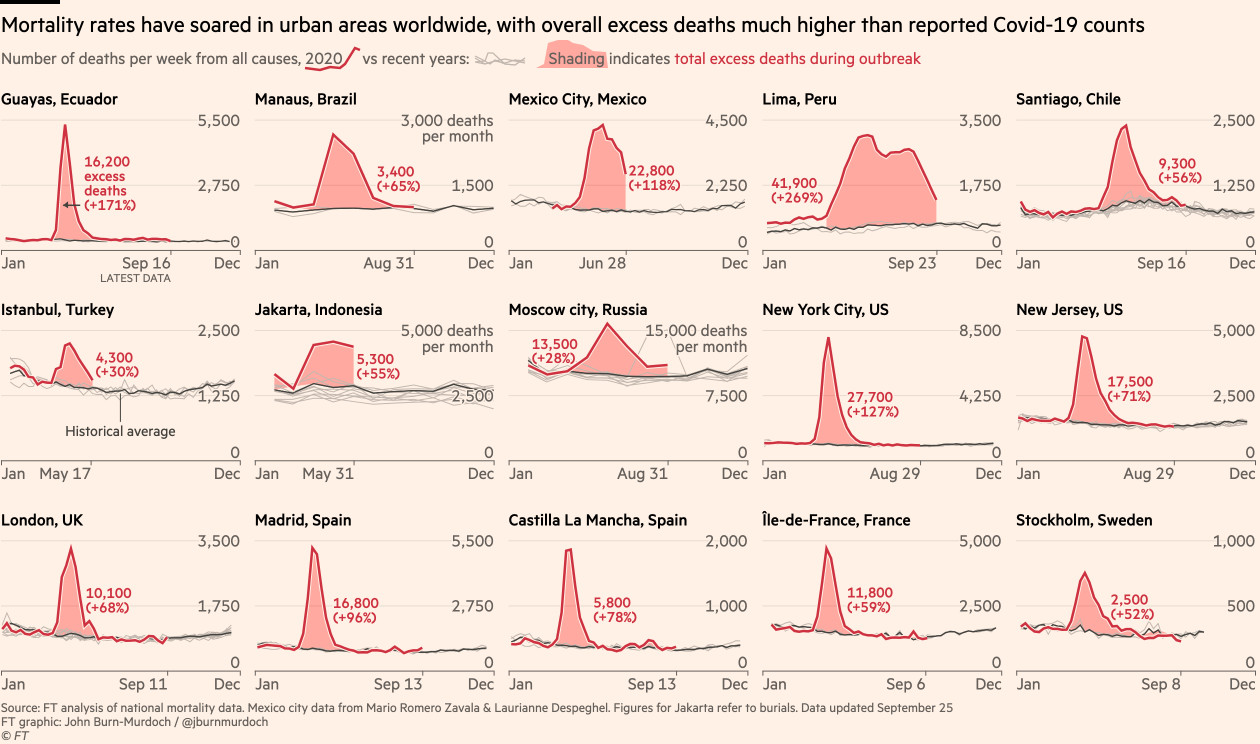 Mortality Rates in Urban Areas Worldwide